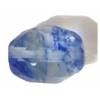 Facet Oval Reconstructed B-grade 16in 10x12mm Blueberry Quartz
